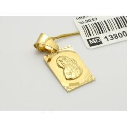 Złoty medalik zawieszka Matka Boska (1380033276)
