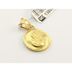 Złoty medalik Matka Boska (1380014894)