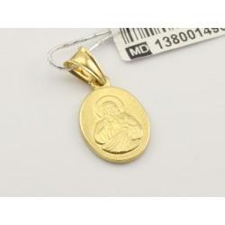 Złoty medalik Serce Jezusa (1380014909)