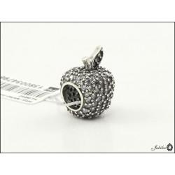 Srebrna zawieszka - charms - jabłko z cyrkoniami - bransoletki modułowe (1380034796
