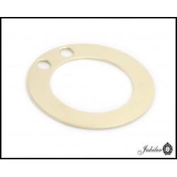 Złota zawieszka - duży ring, pierścień