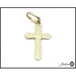 Złoty krzyżyk - zawieszka (31371)
