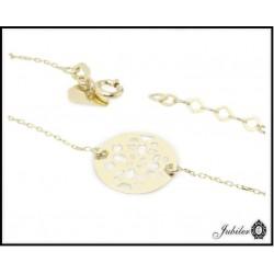 Złota bransoletka - celebrytka - ażurowe koło (33332,33333)