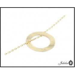Złota bransoletka - celebrytka - pierścień, ring (23947)