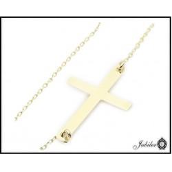 Złota bransoletka celebrytka - krzyżyk
