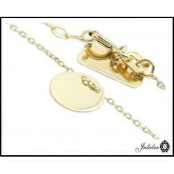 Piękna złota bransoletka (28611)