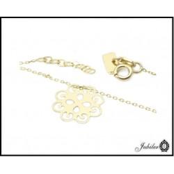 Złota bransoletka - celebrytka - ażurowy kwiat (33330,33334)