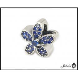 Srebrna zawieszka - charms - kwiatek (1380034824)