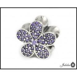 Srebrna zawieszka charms - kwiatek (1380034730)