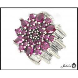 Srebrna zawieszka - charms - kwiat (1380034780)
