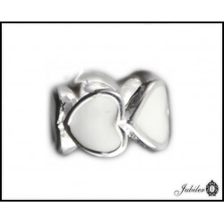 Srebrna zawieszka - charms - kwiatki - bransoletki modułowe (1380034792