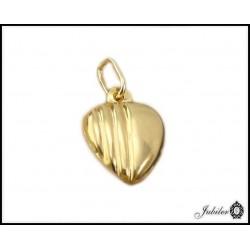 Złota zawieszka - serce
