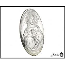 Posrebrzany obrazek - Serce Jezusa (1380033732)