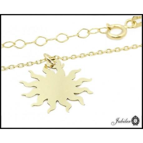Złoty naszyjnik - celebrytka - symbol słońca (27126)
