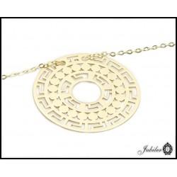 Złoty naszyjnik - celebrytka - duże ażurowe koło (31095)