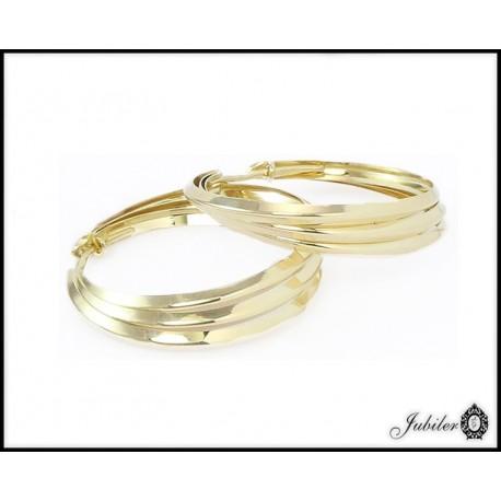 Złote kolczyki - koła (26417)
