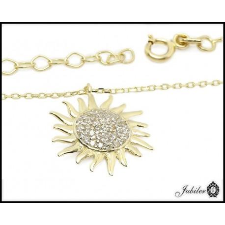 Złoty naszyjnik - słonecznik (27137)