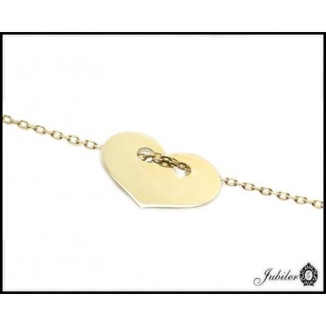 Złoty naszyjnik - celebrykta - serce