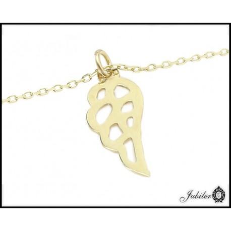 Złoty naszyjnik celebrytka - skrzydło (26459)