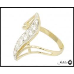 Złoty pierścionek zdobiony cyrkoniami (24780)