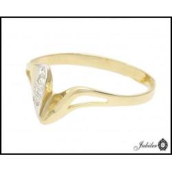 Złoty pierścionek zdobiony cyrkoniami (24790)