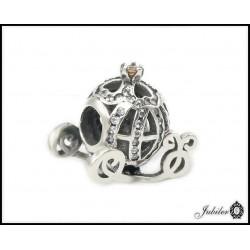 Srebrna zawieszka - charms - ażurowa kula - bransoletki modułowe (1380034792