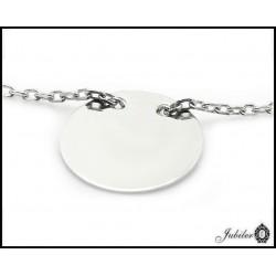 Srebrny naszyjnik - celebrytka - koło (24241)