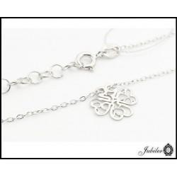 Srebrny naszyjnik - celebrytka - ażurowa koniczynka (33248,33249))
