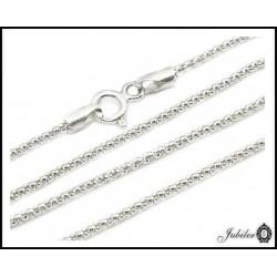 Srebrny łańcuszek - coreana (29421)
