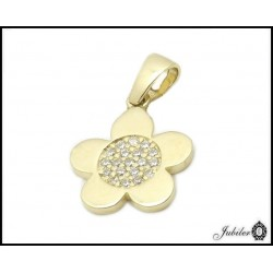 Gold flower pendant (27833)