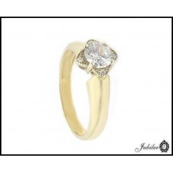Gold ring with cubic zirconia (24783)