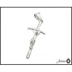 Rodowany srebrny krzyżyk (30713) k056