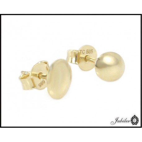 Złote kolczyki - owalne wypukłe (27180)