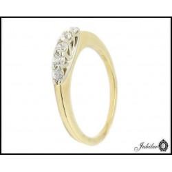 Złoty pierścionek z cyrkoniami (26963)