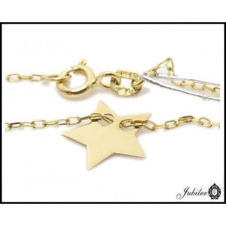 Złoty naszyjnik - celebrytka  - gwiazda