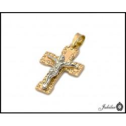 Piękny złoty krzyżyk (1380033719)