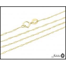 Piękny złoty łańcuszek zdobiony rodowaniem (31062)