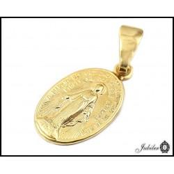 Złoty medalik owalny Matka Boska (1380014950)