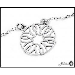 Srebrny naszyjnik - celebrytka - ażurowe serce (24243)