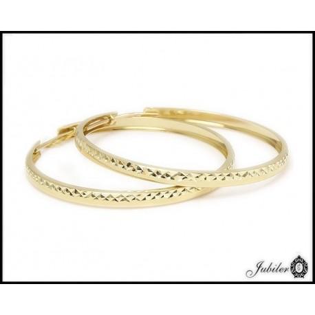 Złote kolczyki duże koła (26960)