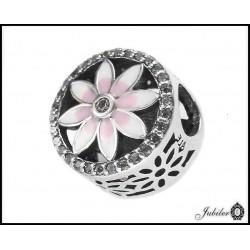 Srebrna zawieszka - charms - kwiat - bransoletki modułowe (1380034807)