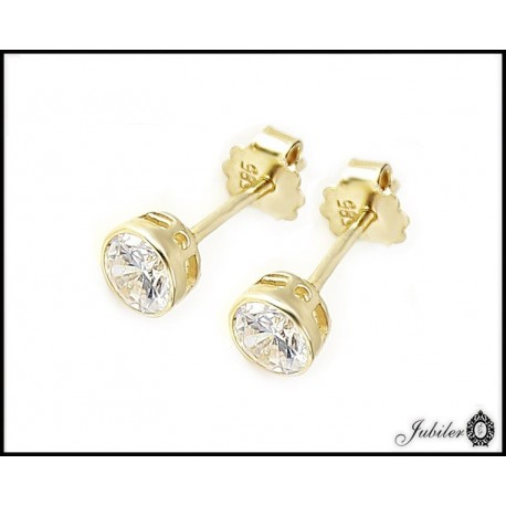 Złote kolczyki zdobione cyrkoniami