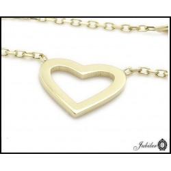 Złoty naszyjnik serce (27150)