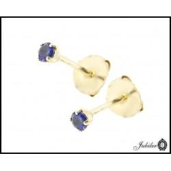 Filigranowe złote kolczyki z cyrkonią (24841)