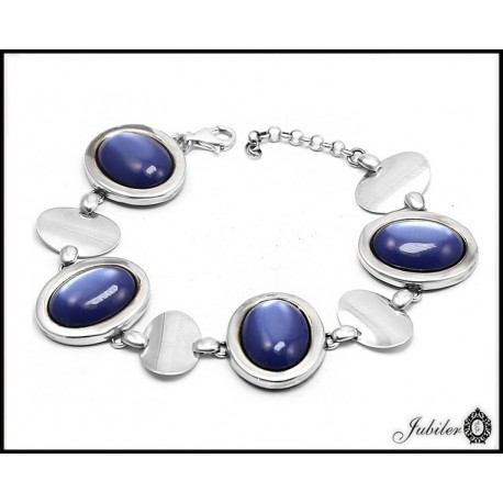 Silver bracelet decorated oxidation (07016)