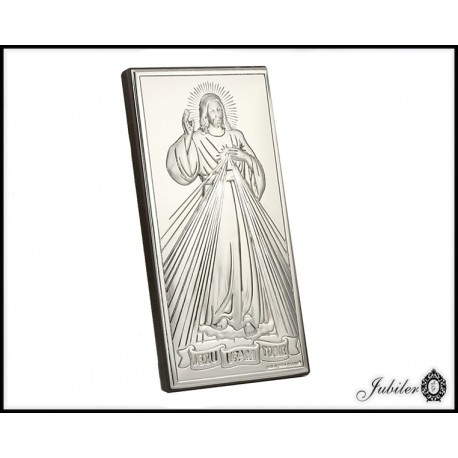Posrebrzany obrazek - Jezus (1380033749)