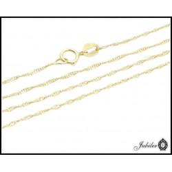 Piękny złoty łańcuszek splot singapur p.585 (14K) 8341073619