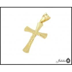 Złoty krzyżyk - zawieszka - próba 585 8338026960