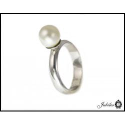 Srebrny pierścionek z perłą 925 8433254053