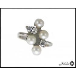 Srebrny pierścionek z perłą 925 8435280821